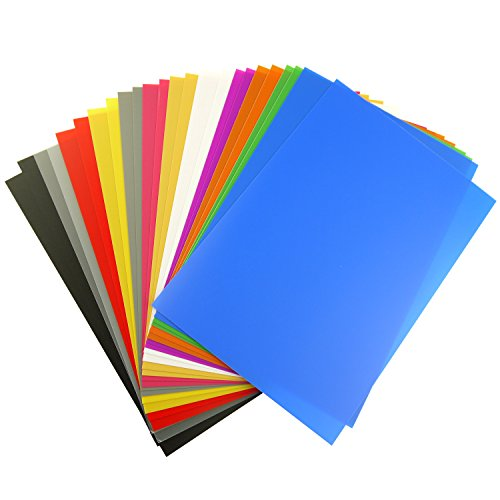 Reading Tinted Plastic (lieomo 21.4cm X 31cm Tinted Plastic Film Gel Reading Sheets, 12 Color, 24 Pieces)