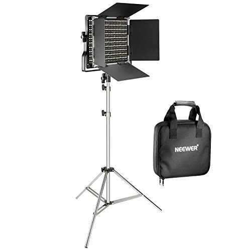 Neewer 660 LED Video Light with 78.7-inch Stainless Steel Light Stand Kit:Dimmable Bi-color LED Panel with U Bracket and Barndoor(3200-5600K,CRI 96+)for Photo Studio Portrait,YouTube Video Photography by Neewer