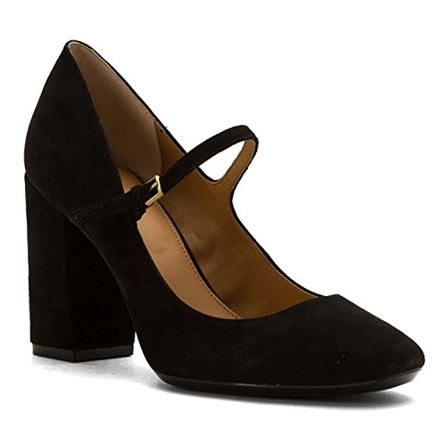 Calvin Klein Womens Cassian Suede Closed Toe Ankle Strap, Black Suede, Size 5.5