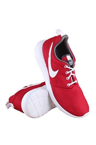 Nike Youth Roshe One (Gym Red/White/Dark Grey)(5 M US Big Kid)