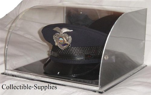 Hat Display Case - Military (Police) Top Hat Display Case