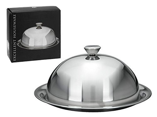 ultimatesalestore Stainless Steel Restaurant Cloche Serving Dish Food Cover Dome With Plate - Food Service Plate
