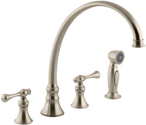 KOHLER K-16111-4A-BV Revival Kitchen Sink Faucet, Vibrant Brushed Bronze