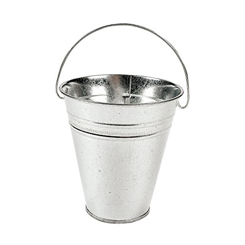 Kidsco 12-Pack Large Galvanized Metal Buckets With Handle 5