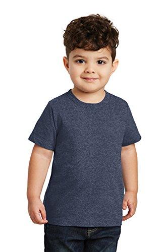 (Port & Company Toddler Fan Favorite 100% Cotton Short Sleeve Tee, 4T Heather Navy)