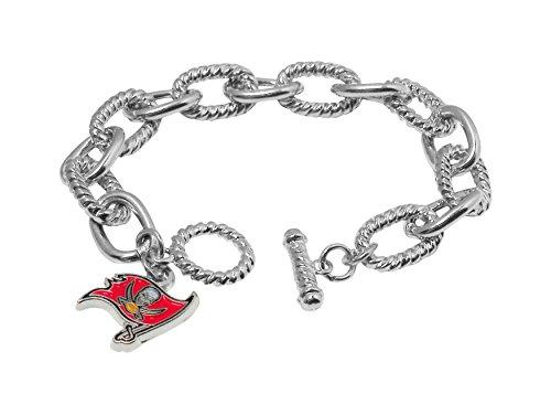 Pro Specialties Group NFL Tampa Bay Buccaneers Chain Link Logo Bracelet
