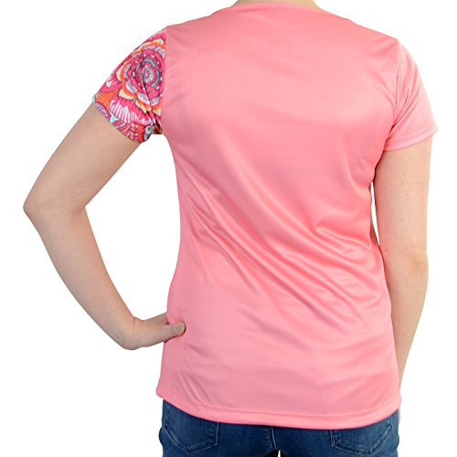 Camisa Desigual De Encaje Rosa Salmón Rose