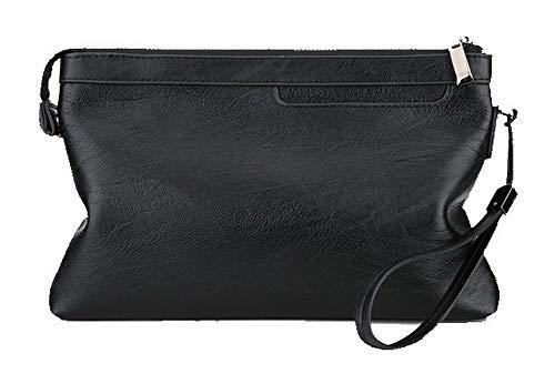 Black Clutch Handbags EGHBG206321 Bags WeiPoot Women's Pu Casual FqwxfPp07