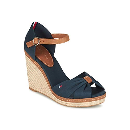 Hilfiger Sandal Marine Espadrilles Iconic Tommy Damen Braun Elena FZxnYwdP
