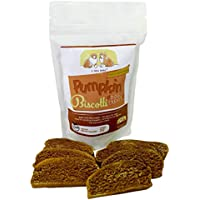 All Natural Baked Dog Treats – Pumpkin Biscotti for Sensitive Stomachs – Human Grade Wholesome Ingredients – Handmade in the U.S.A.