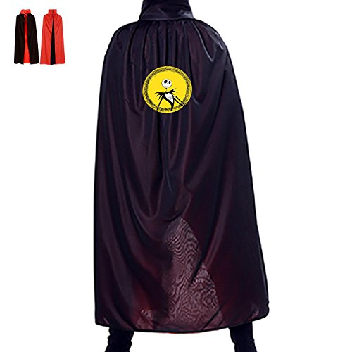 Happy Halloween Jack Nightmare Before Christmas Logo Unisex Adult&Kids Double-Faced Cloak Robe Cape For Halloween Cosplay