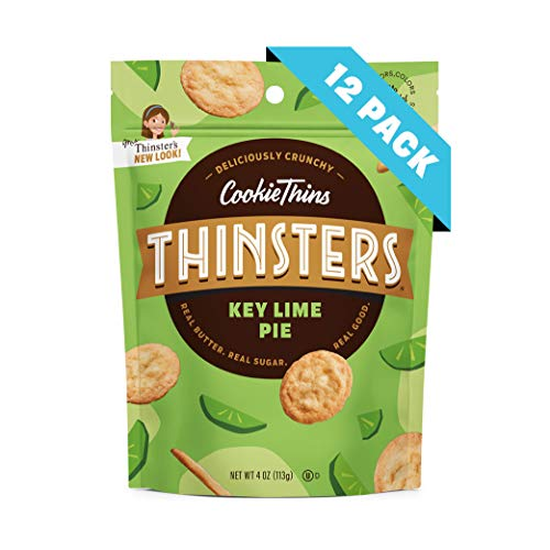 (Thinsters Cookie Thins Key Lime Pie, 4 Ounce (Pack of 12), Non GMO, Peanut Free)