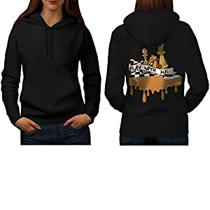 Play Chess With Me Game Board Women NEW S-2XL Hoodie Back | Wellcoda