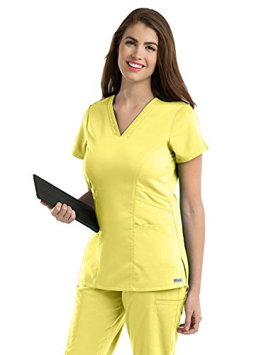 Professional Uniform (Grey's Anatomy Women's 41452 Women's Marquis V-Neck Scrub Top- Sunshine- Small)