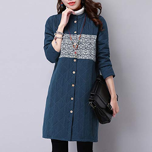 Costuras Mujer Viento Nacional Abrigo Parka Moda Escudo Lino qqtOwR0