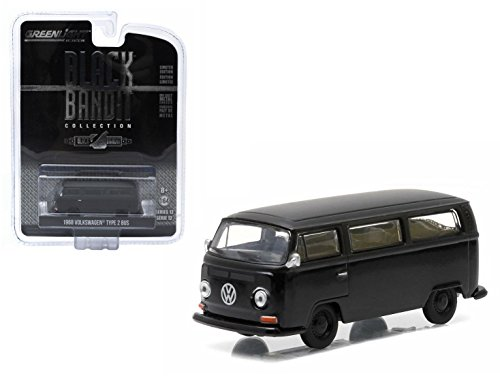 Volkswagen Type 2 Bus - 1968 VOLKSWAGEN TYPE 2 BUS * Black Bandit Collection Series 12 * 2015 Greenlight Collectibles Limited Edition 1:64 Scale Die-Cast Vehicle