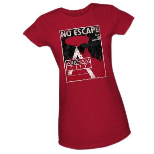 No Escape -- Batman Arkham City Crop Sleeve Fitted Juniors T-Shirt, X-Large Batman Arkham Asylum Escape