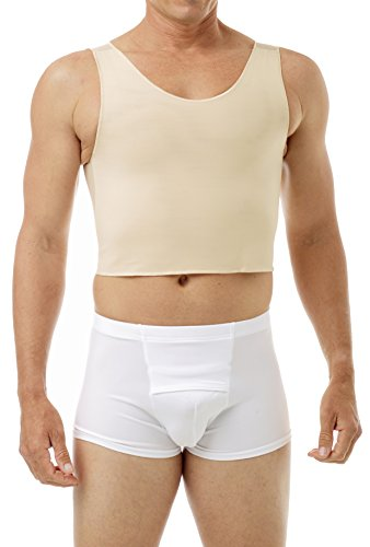 Underworks FTM Extreme Tri-Top Chest Binder Top 983 - Nude X-Large (Best Looking Nude Boobs)