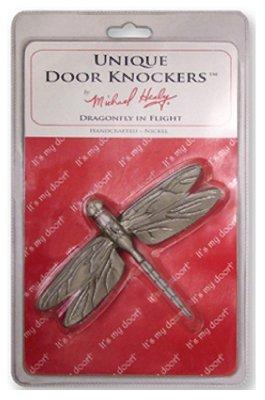 Dragonfly in Flight Door Knocker - Nickel (Standard Size)