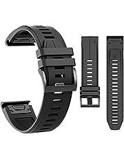 MCXGL Correa de silicona para reloj de ajuste rápido compatible con Garmin Fenix 5/Fenix 5 Plus/Forerunner 935/Approach S60/Quatix 5