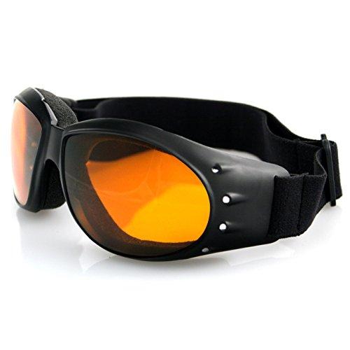 Bobster Cruiser Lens (Bobster Eyewear BCA001A, Cruiser Goggles, Black Frame, Anti-fog Amber Lens)