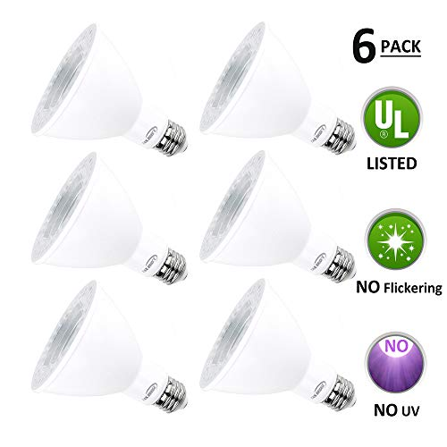 Par30 LED Bulbs, Tanbridge High Power lamp Beads, Indoor and Outdoor, LED Flood Light Bulb, 12W (120W Equivalent), E26 Base, 5000K Daylight, 1050lm, 60° Beam Degrees, Par30 (6 Pack)