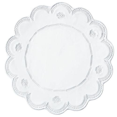 - Vietri INC-1120D Incanto Lace Service Plate/Charger, White