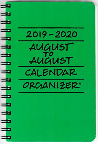 2019-2020 August to August Calendar Organizer- Sprout (Green)