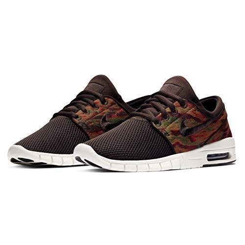 Nike Men's SB Stefan Janoski Max Skateboarding Shoes (Velvet Brown/Velvet Brown-Sail, 9 M US)