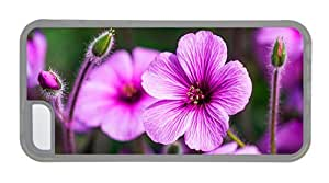 Hipster carrying iPhone 5C case geraniums TPU Transparent for Apple iPhone 5C