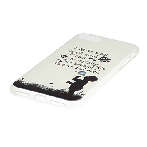 "Hülle iPhone 7 Plus / iPhone 8 Plus , LH Kind Bläst Ballon TPU Weich Muschel Tasche Schutzhülle Silikon Handyhülle Schale Cover Case Gehäuse für Apple iPhone 7 Plus / iPhone 8 Plus 5.5"""