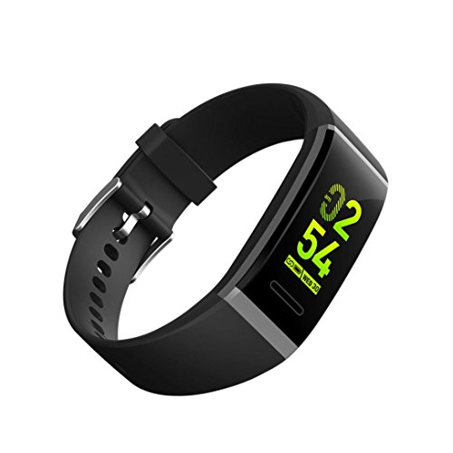 (Dreamyth V11 Waterproof Smart Watch Bracelet Blood Pressure Fitness Tracker For iPhone For Android/iOS Durable (Black))