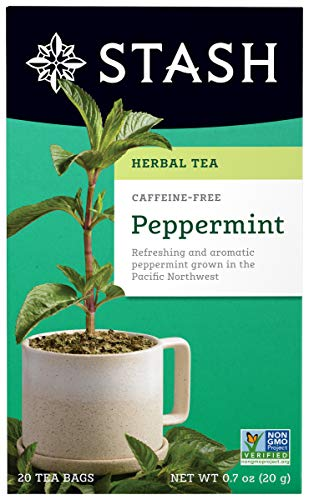 Stash Tea Peppermint Herbal Tea, 20 Tea Bags Per Box, Premium Herbal Tisane, Minty Refreshing Herbal Tea, Enjoy Hot or Iced