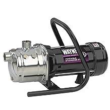 Wayne PLS100 1 HP Portable Stainless Steel Lawn Sprinkling Pump with Debris Strainer