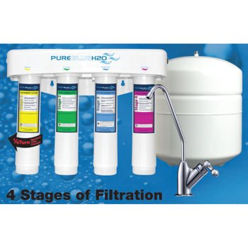 Pure Blue H2o. 4 Stage Ro Water Filtration System