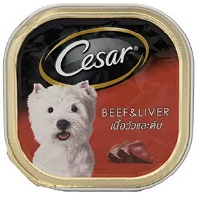 Cesar Dog Food Beef and Liver in Meaty Juices for Small Dog 100 Grams