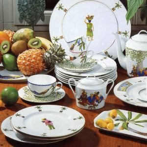 (Philippe Deshoulieres Tropical Island Tea Saucer)