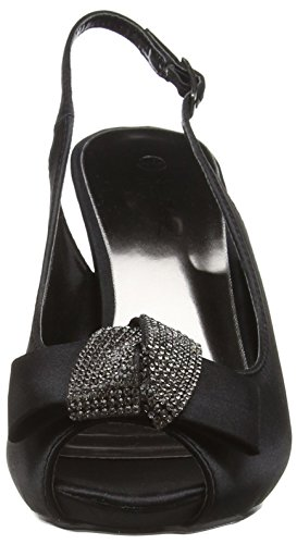 Spot On F10254, Women's Heels Sandals Black (Black)
