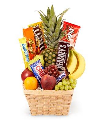Fresh Fruit Gift Basket- Same Day Birthday Gift & Snack Basket Delivery - Gourmet Gift Baskets - Birthday Snack Gift Baskets - Gourmet Chocolate Gift Baskets - Birthday Chocolate Food Gift Baskets