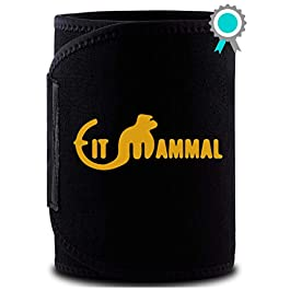 Fit Mammal Sweat Slim Belt- 1 Year Warranty- Sweat Belt for Men and Women- One Size Fits All- New and Improved