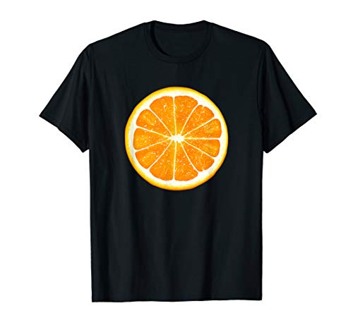 - Giant Orange Slice Fruit T-Shirt Fun Foodie Vegan Summer Tee