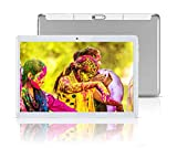 Android Tablet 10 Inch with Sim Card Slots - 10.1' 4GB RAM 64GB ROM Octa Core 3G Unlocked GSM Phone Tablet PC with WiFi Bluetooth GPS Netflix YouTube (Silver)