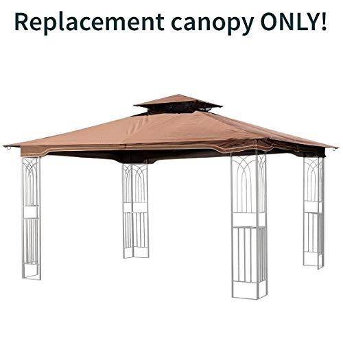 (Sunjoy Replacement Brown Gazebo Canopy for 10 x 12 Regency II Patio Gazebo; Easily Update Your Gazebo)