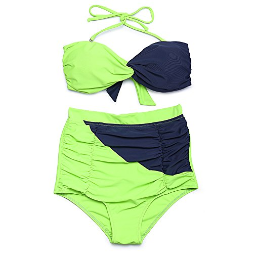 YONGYI Europa y el hechizo-lumbar split bikini espesor mm para aumentar spa femenina trajes de baño Trajes de baño Deepblue verde