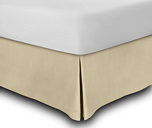 Bed Skirt (Queen, Beige, 15 Inch Fall) - Hotel Quality, Iron Easy, Quadruple Pleated , Wrinkle and Fade Resistant by Utopia Bedding (Beige Skirt Bed)