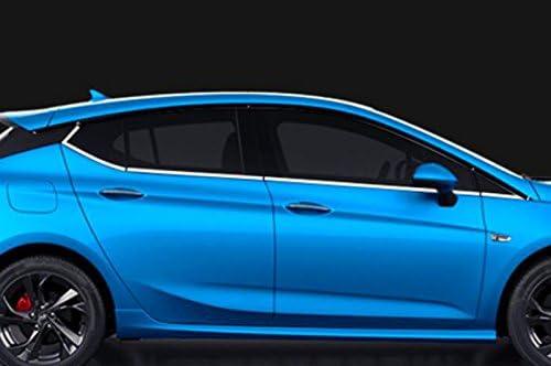 HIGH FLYING exterior acero inoxidable lado Puerta Ventana Styling listones para Astra K 2015/2016/2017/F/ünft/üriges Hatchback