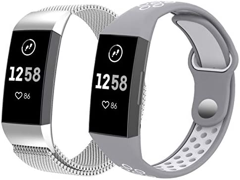 Amazon com: Surace Compatible for Fitbit Charge 3 Bands, Milanese