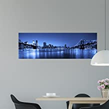 """Manhattan and Brooklyn Bridges Wall Mural Decal by Wallmonkeys 