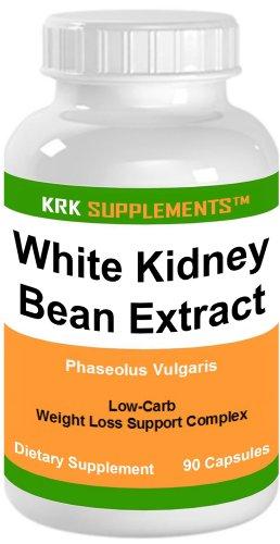 1 bouteille de haricot blanc Extrait 500mg 90 Capsules KRK suppléments