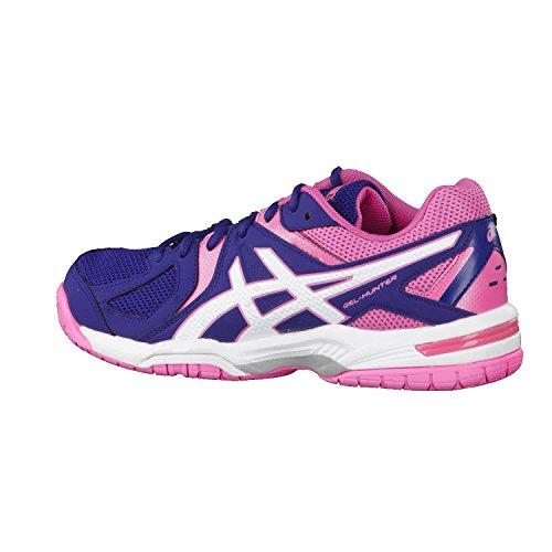 de Femme Badminton blanc 3 bleu rose Gel Asics Chaussures Hunter 4YZqTI